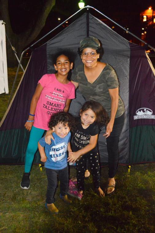 Camping in the park with the NYPD 3