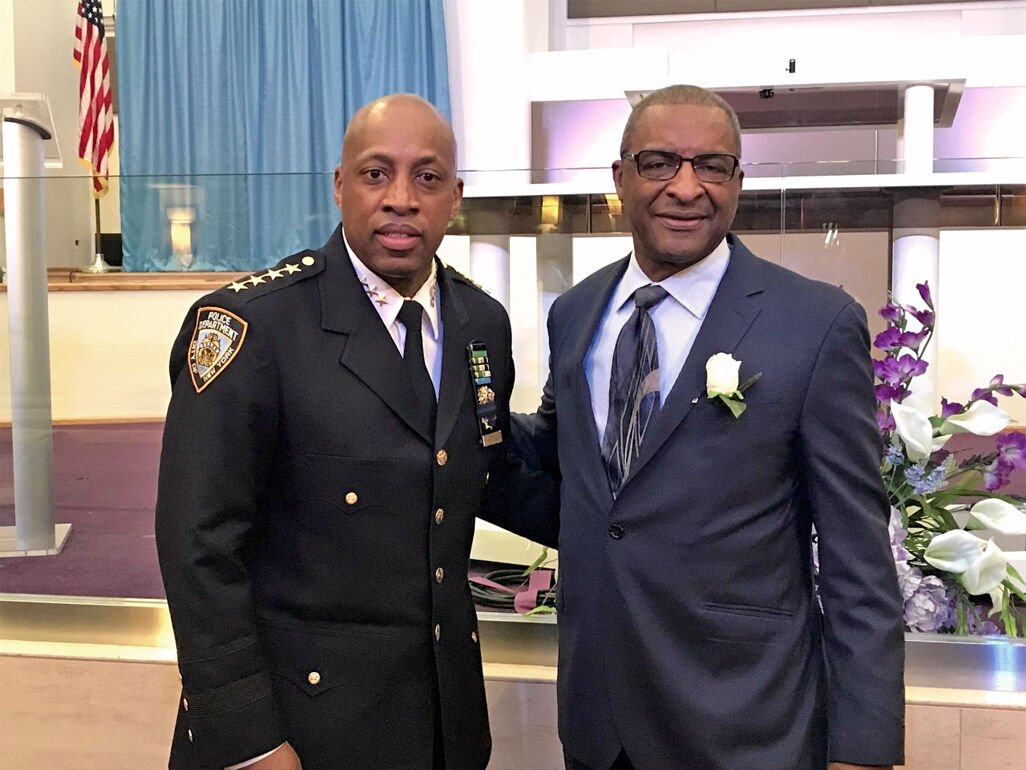 NYPD's new chief of dept. visits Jamaica 1