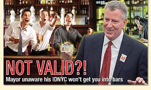 Mayor claims bars will accept IDNYC 1
