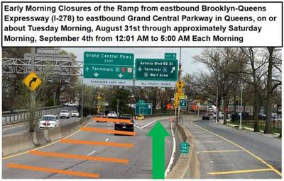BQE, LIE, LIC and Jamaica road closures set in Queens