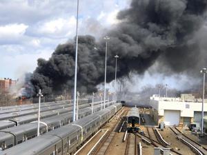 Hollis blaze shuts down LIRR service 2