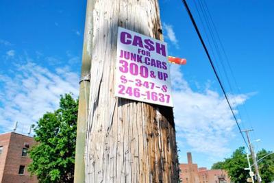 Illegal advertising in the neighborhood 1