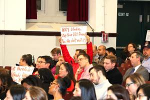 Outraged parents at diversity forum 1