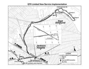 New bus routes for LaGuardia, Long Island City and Woodside - Queens Q Bus Map on