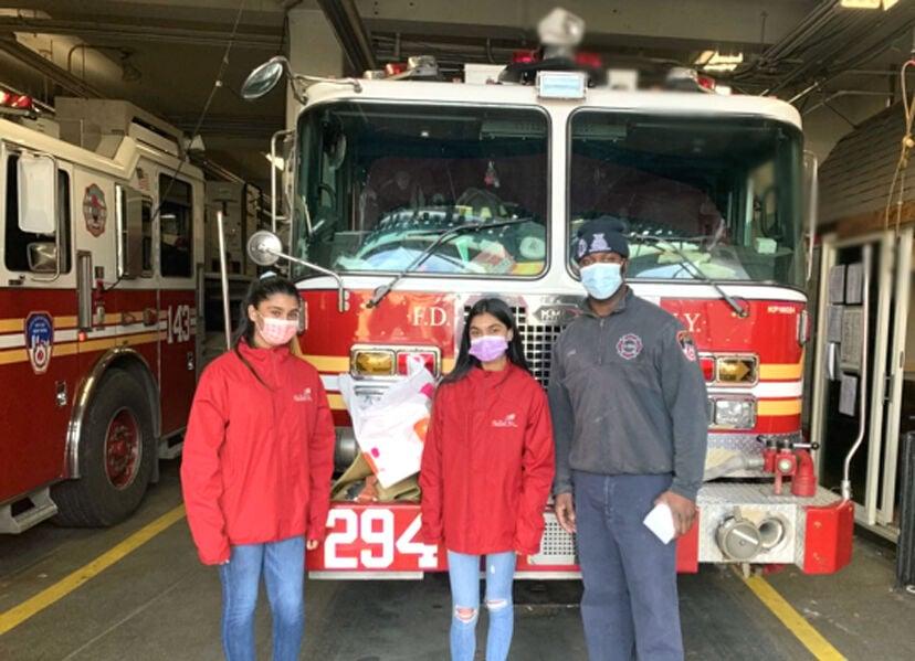 Edison's SkillsUSA kids visit firehouse to say thanks 2