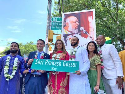 Co-naming honors Hindu leader Gossai 1
