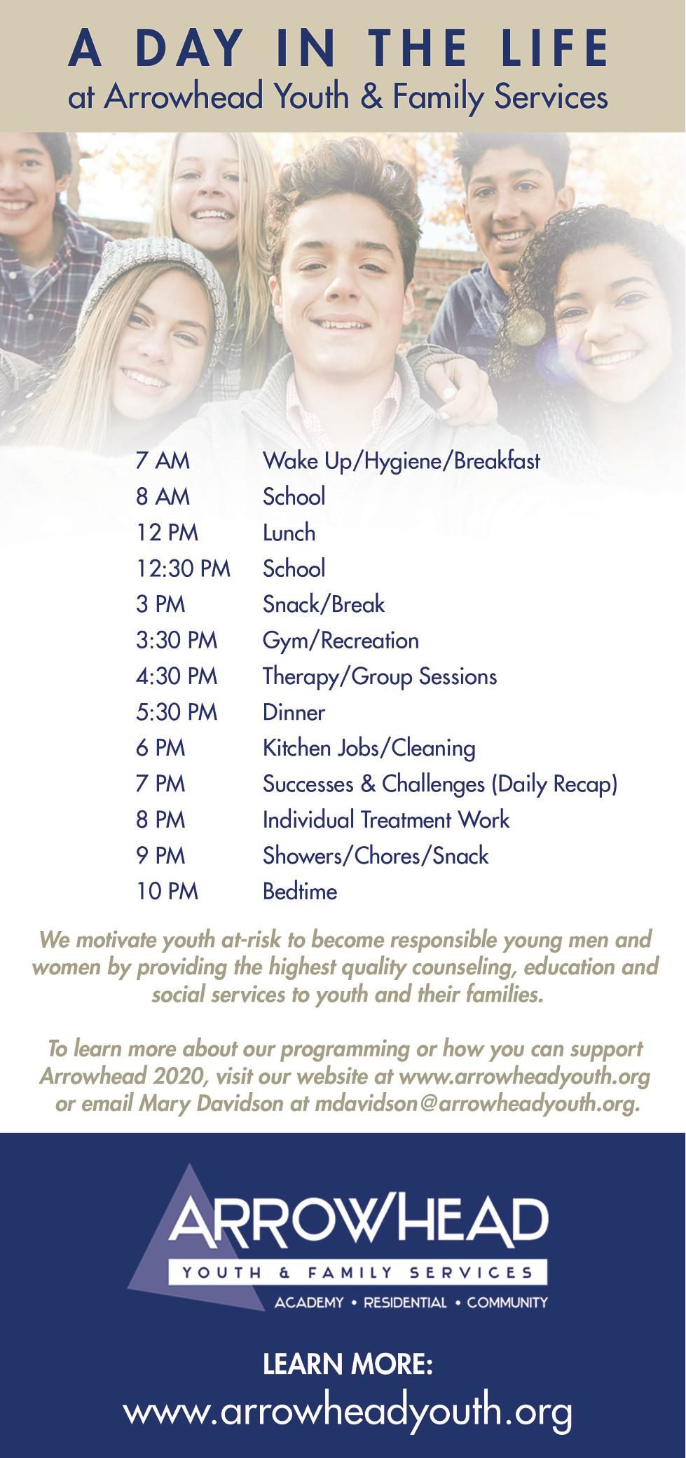 ARROWHEAD YOUTH AND FAMILY SERVICES - Ad from 2018-02-22