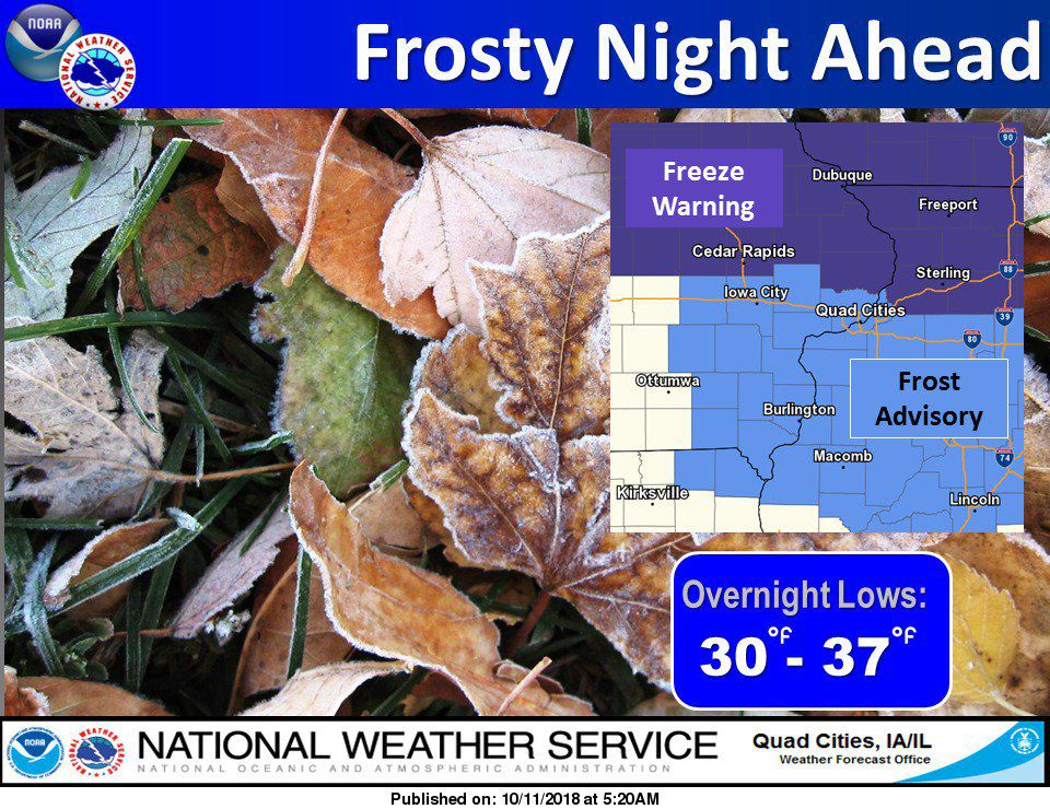 NWS: Frost