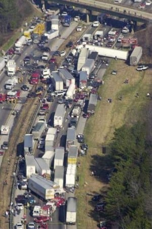 Dozens Of Vehicles In Pileup On Interstate 75 In Northwest