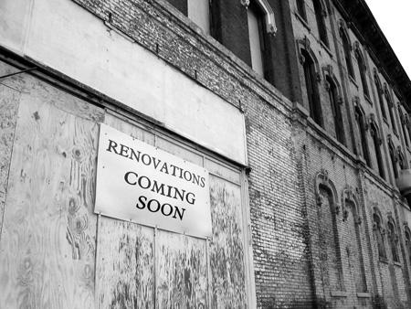 Renovations coming not so soon