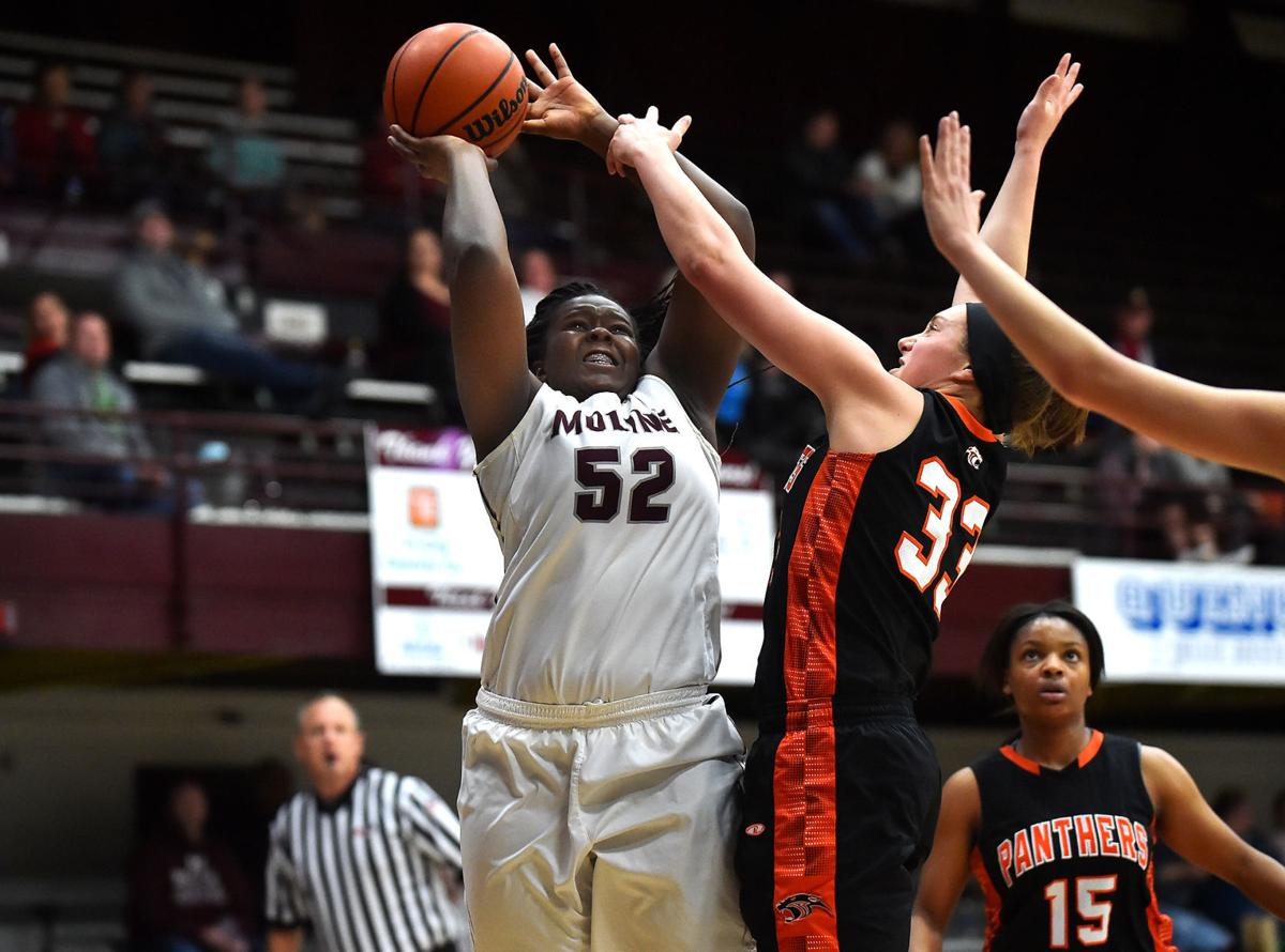 Prep Girls' Basketball: Moline vs. United Township