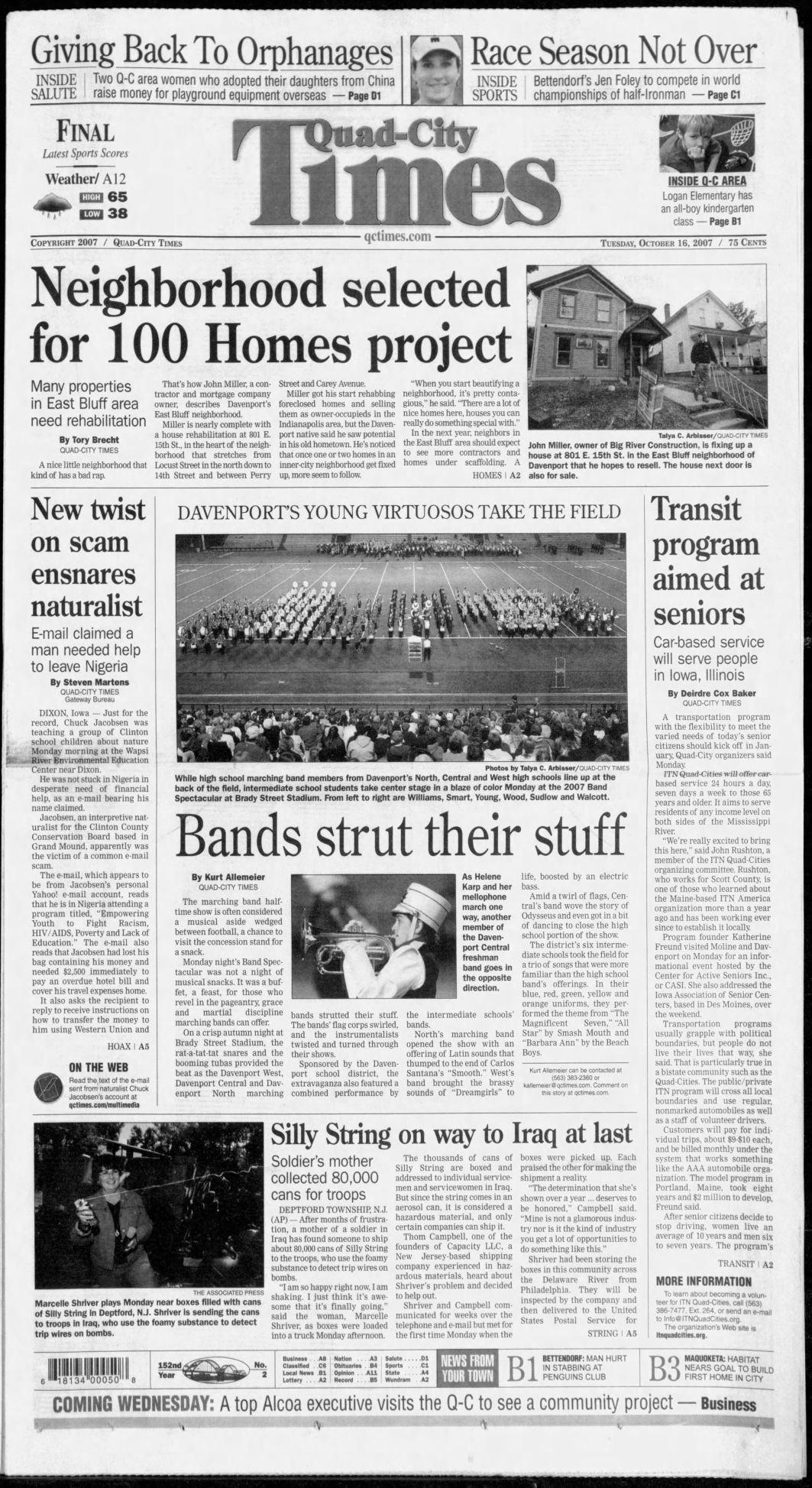 Oct. 16, 2007 Page A1