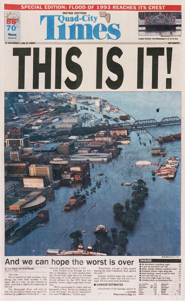 Auto Repair Chicago >> Times front pages through 1993 flood : Weather