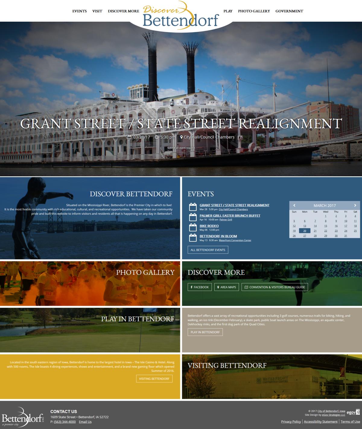 Bettendorf unveils new websites