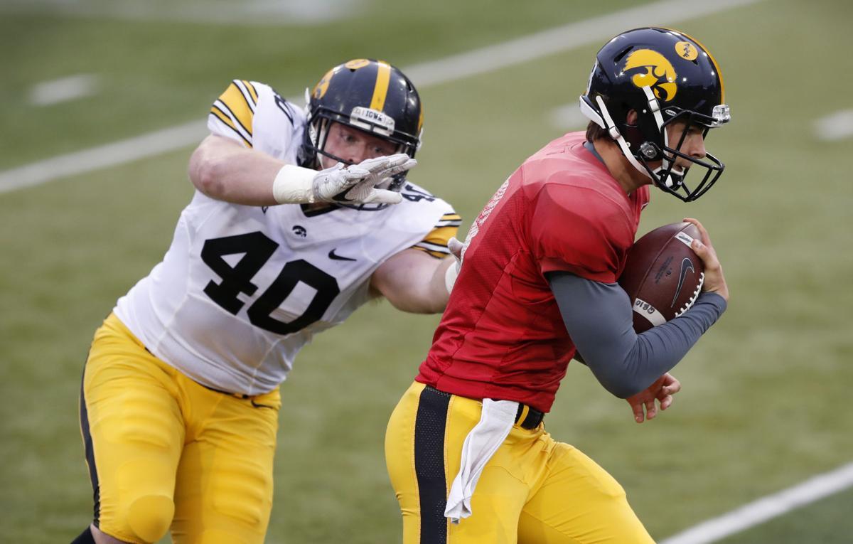 Iowa Spring Game Football