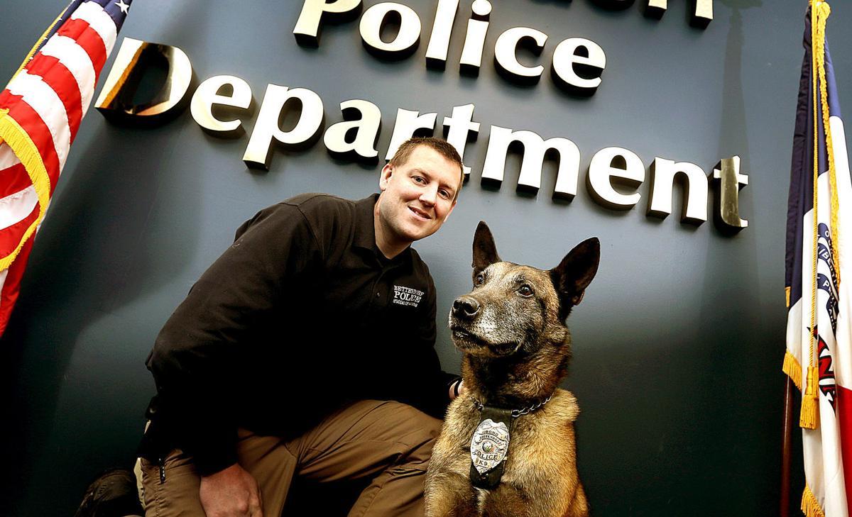 Bettendorf Police Detective Josh Paul and Bono