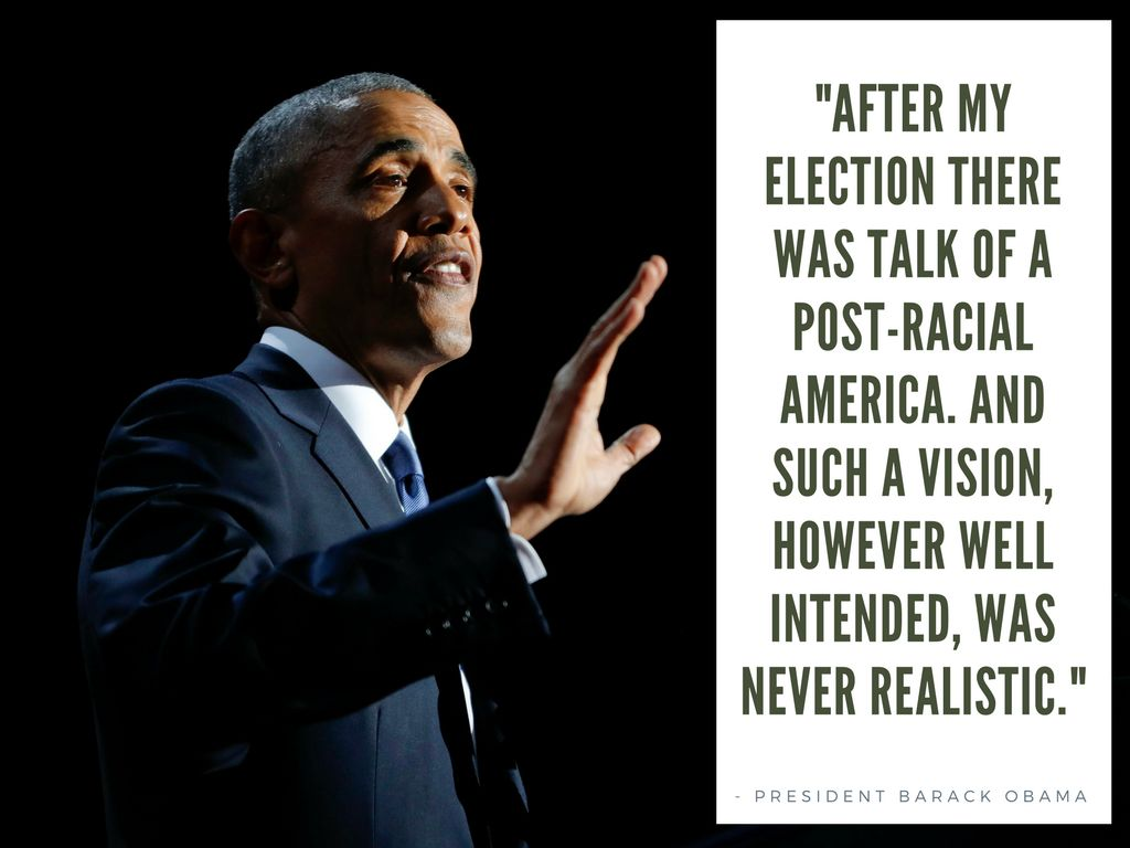 post racial america The 'post-racial' conversation, one year in with the election of president obama  roberts: we are talking about a post-racial america.
