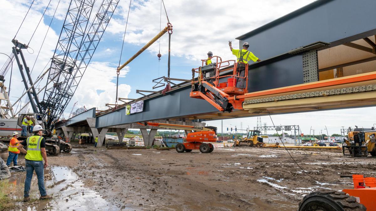 Final beam set for I-74