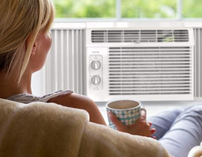 This affordable window unit air conditioner will keep you cool all summer