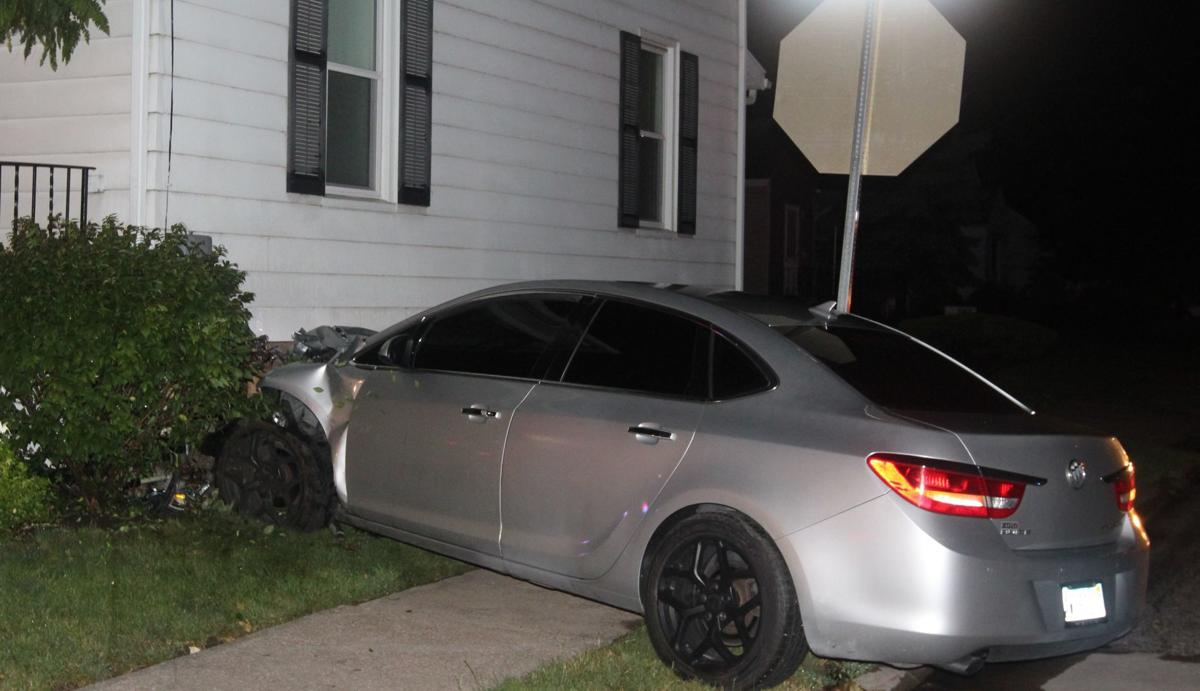 Car hits house 1