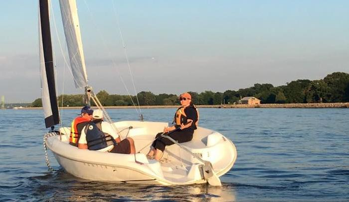 Sailing on Lake Davenport