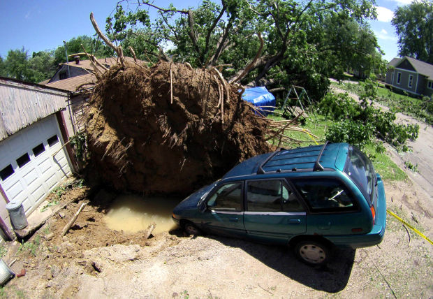 Image result for tipton, iowa storm 300 trees  hole