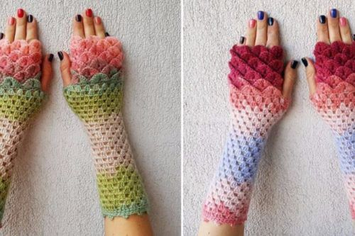 Dragon Crochet Gloves Are Here To Fashionably Rescue You From Winter