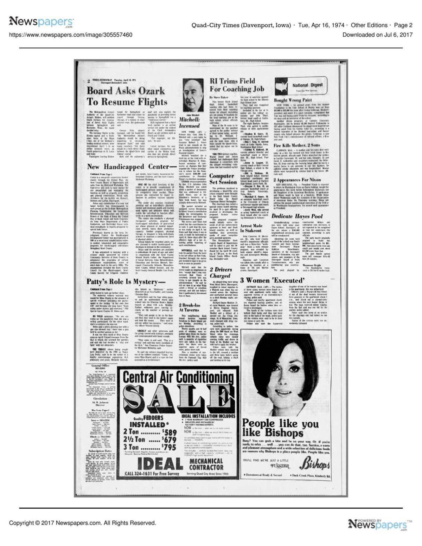 Tuesday, April 16, 1974