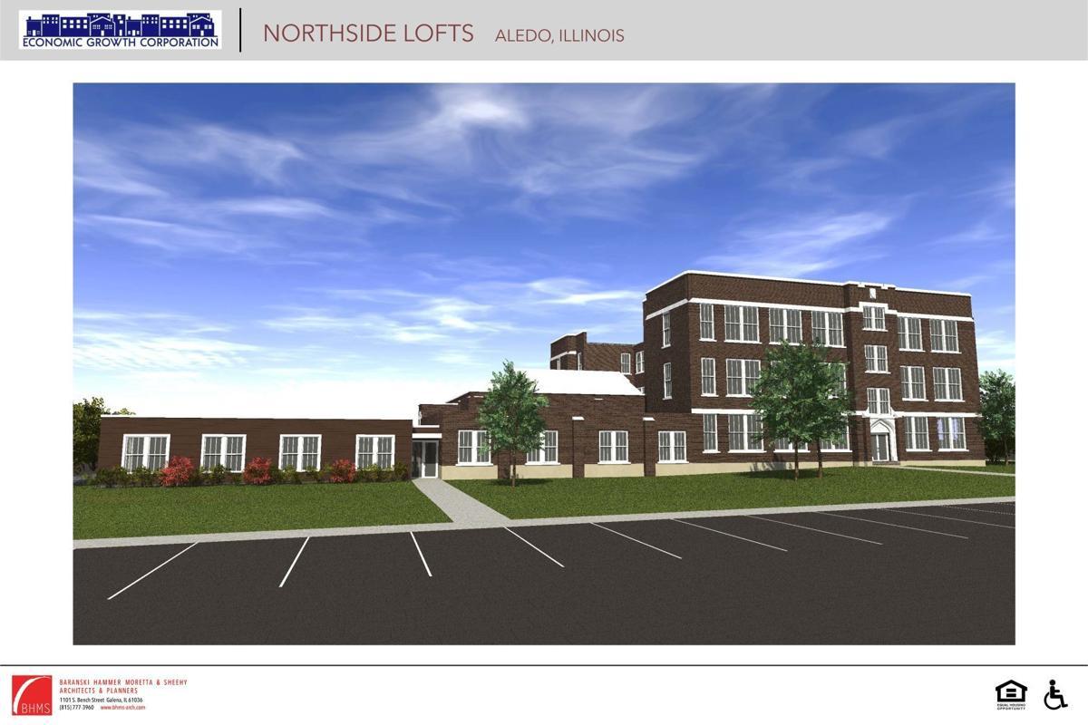 Northside Lofts rendering in Aledo