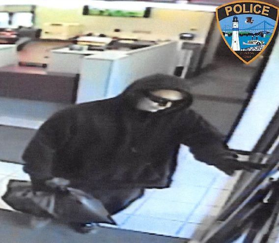 Clinton bank robbery suspect