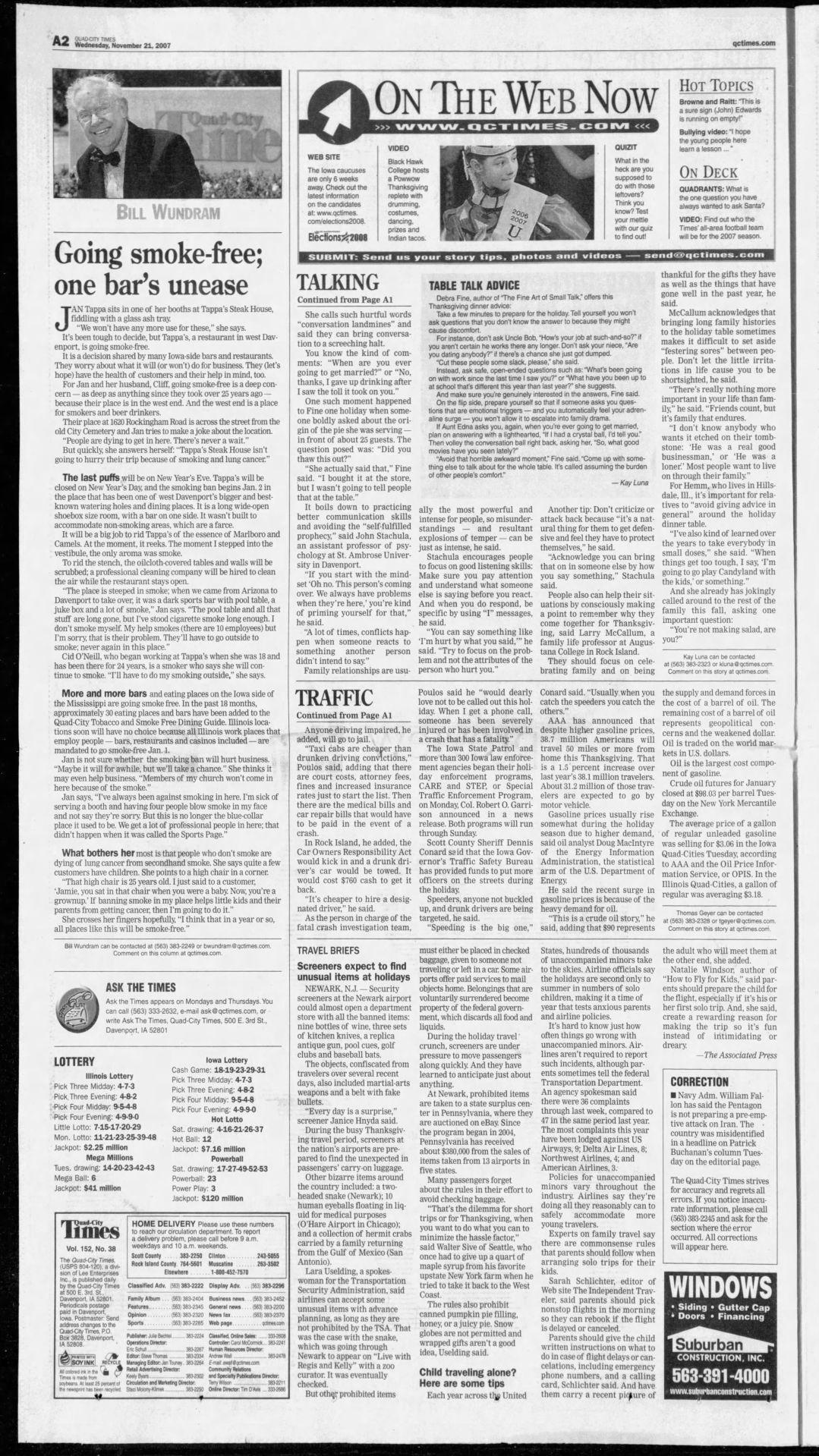 Nov. 21, 2007 page A2