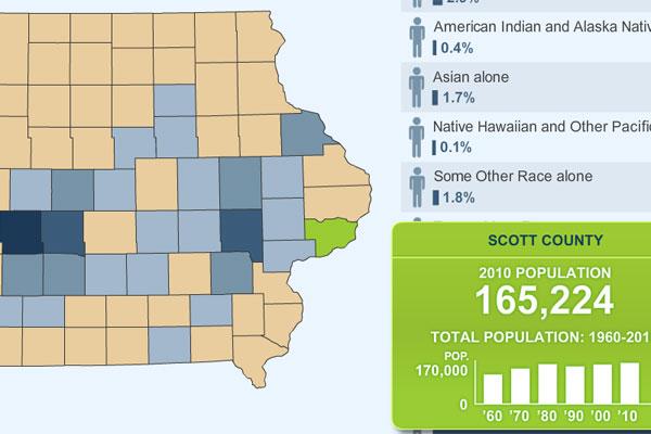 Iowa census map image