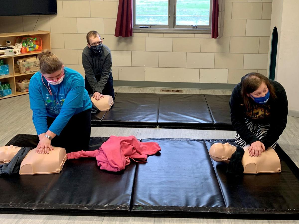 Hand in Hand's People with Purpose Program takes part in CPR training