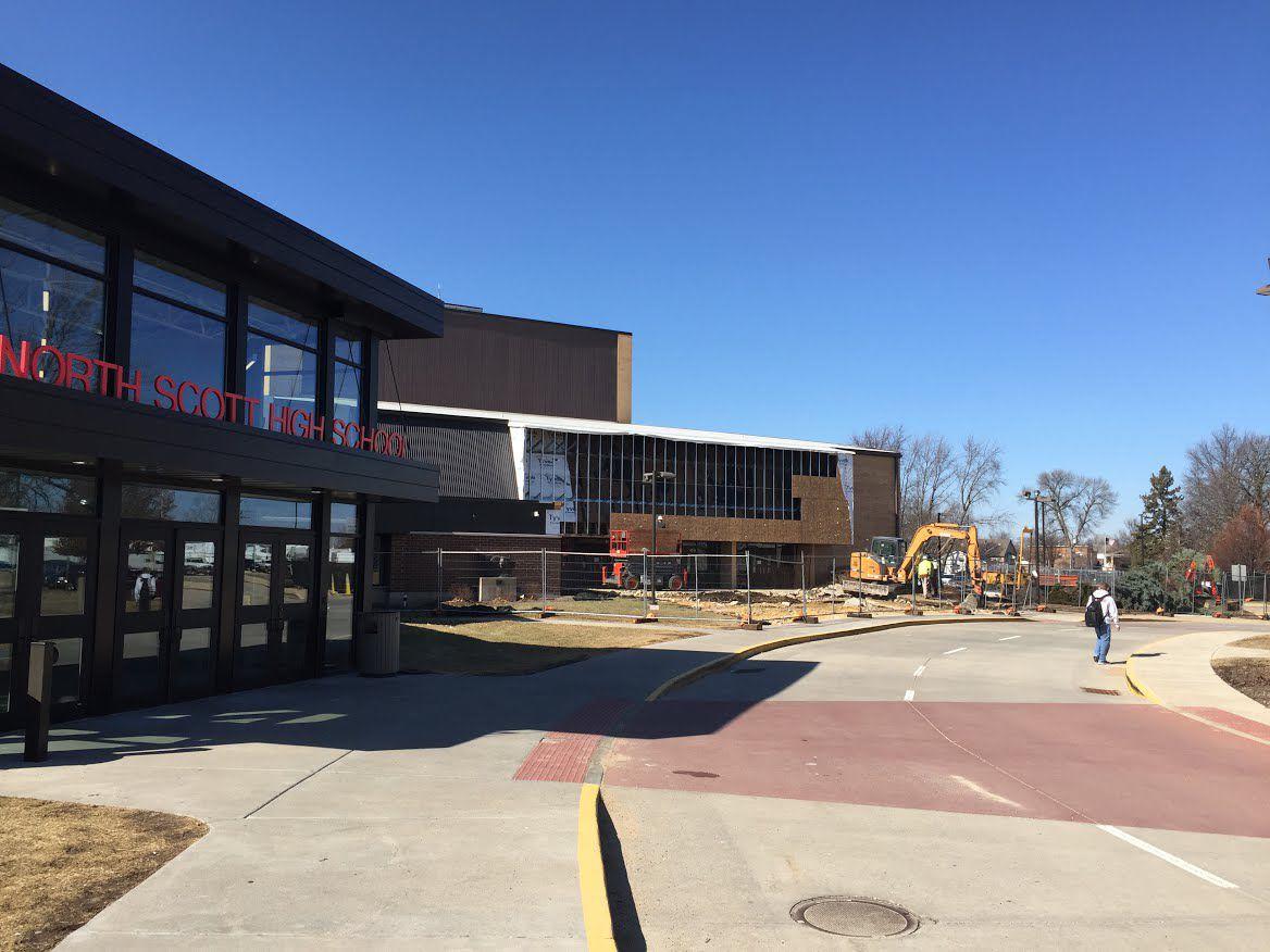 north high school auditorium entrance addition