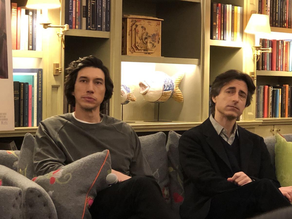 Adam Driver, left and Noah Baumbach