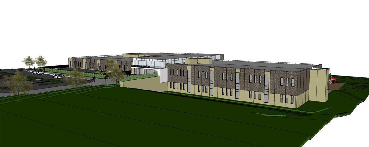 Grant Wood rendering, front