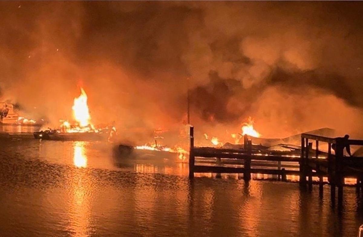 Alabama Boat Dock Fire