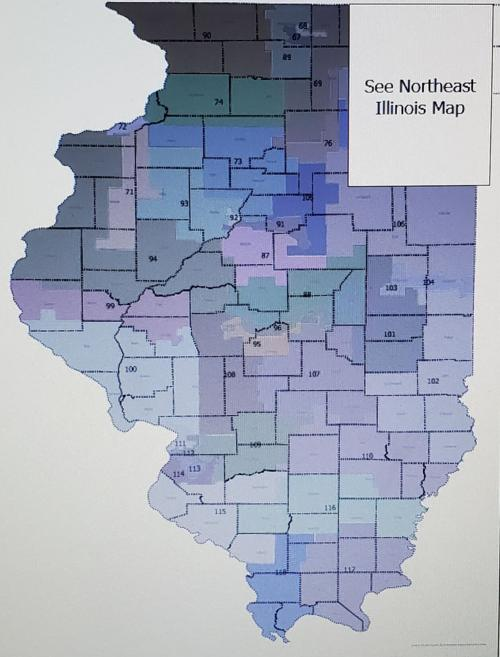 Proposed Illinois House Districts