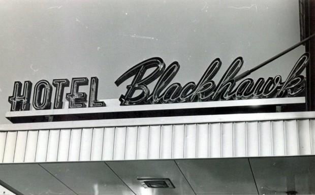 Blackhawk Hotel: Marquee 7/7/1967