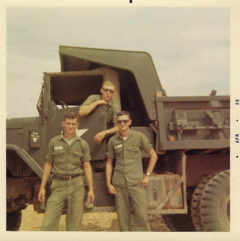 Three soldiers in Vietnam