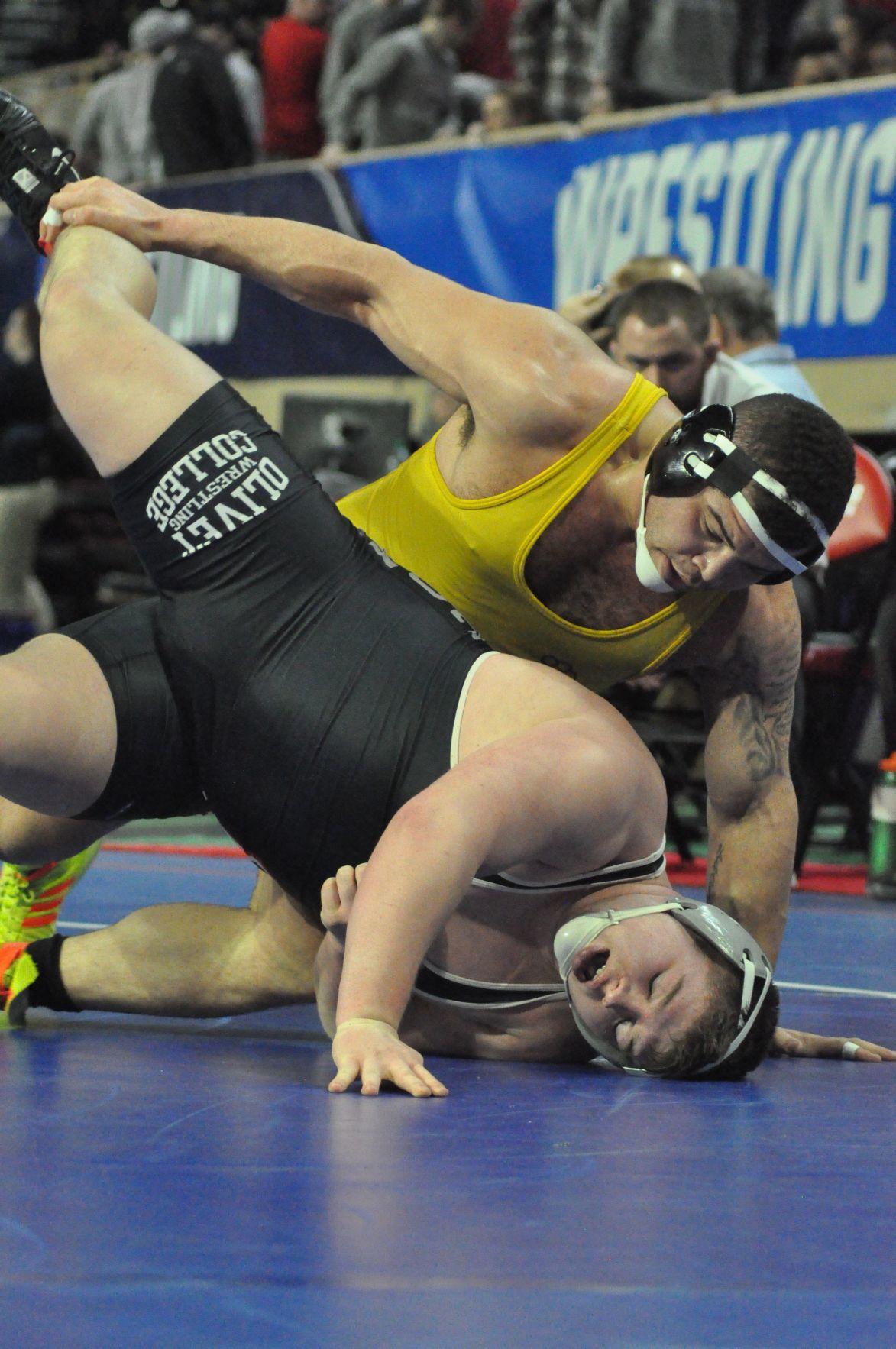 Adarios Jones at D-3 wrestling nationals