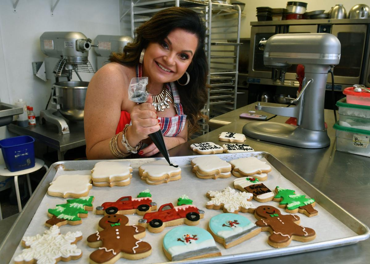 """Tiphanie Cannon owner of Oh So Sweet by Tiphanie, competed on Food Network's """"Christmas Cookie Challenge""""."""