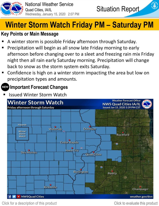 Winter storm outlook