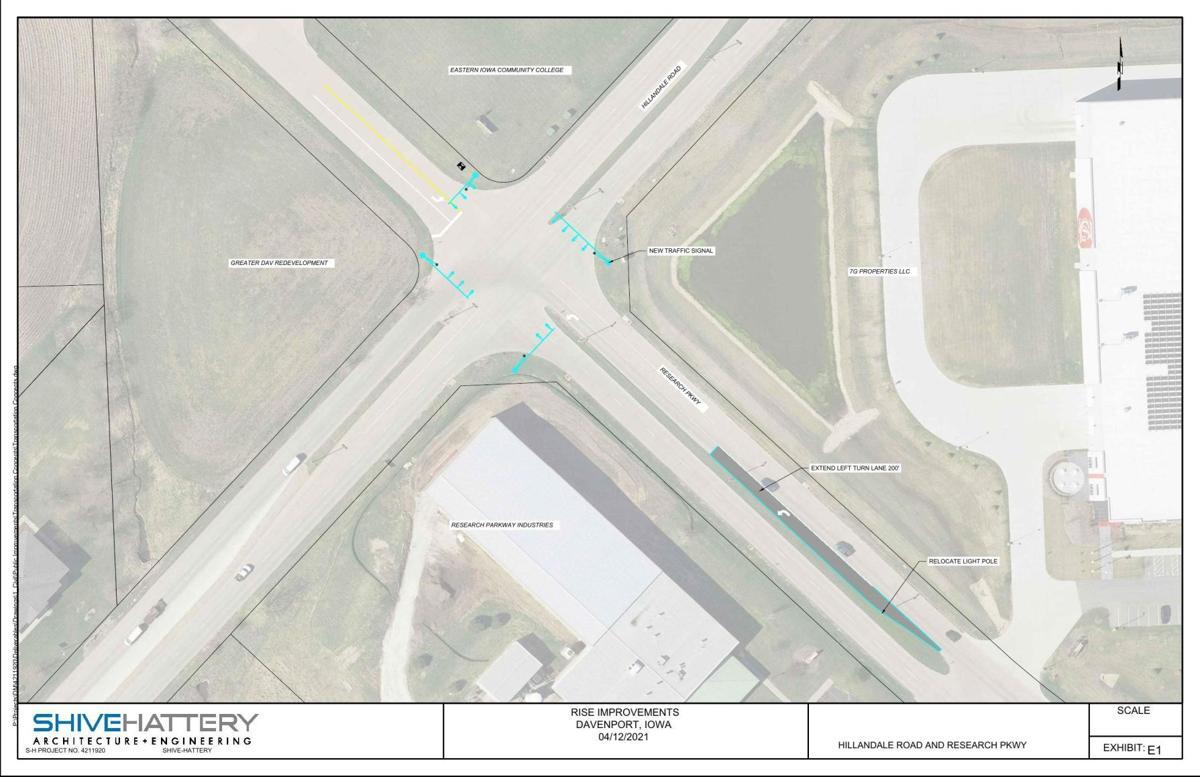Davenport industrial park roadway improvements