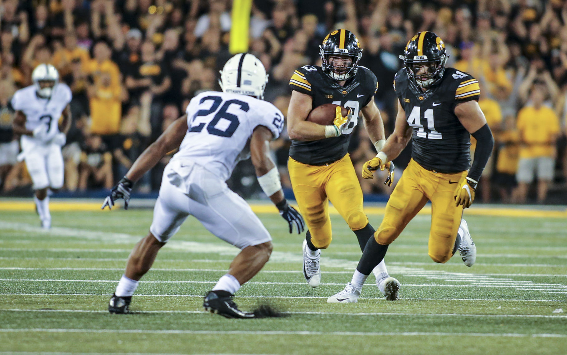 Barkley earns much recognition for performance against Iowa