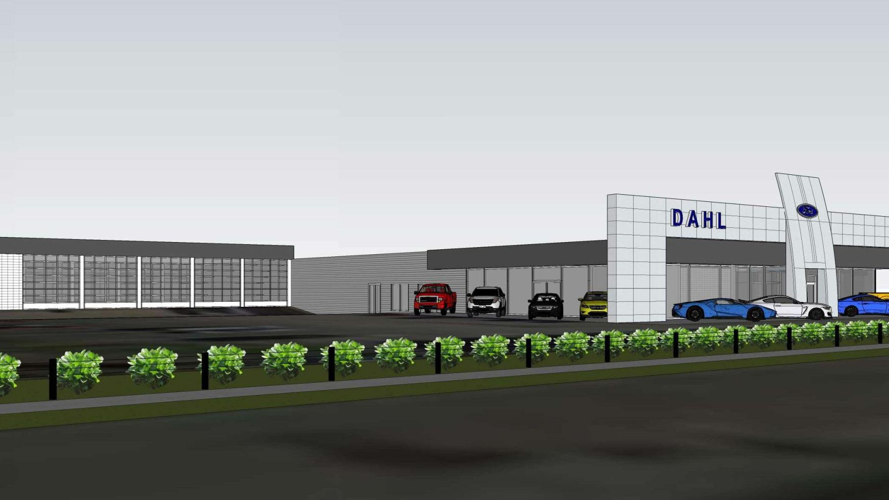 dahl ford begins dealership renovation business economy qctimes com dahl ford begins dealership renovation