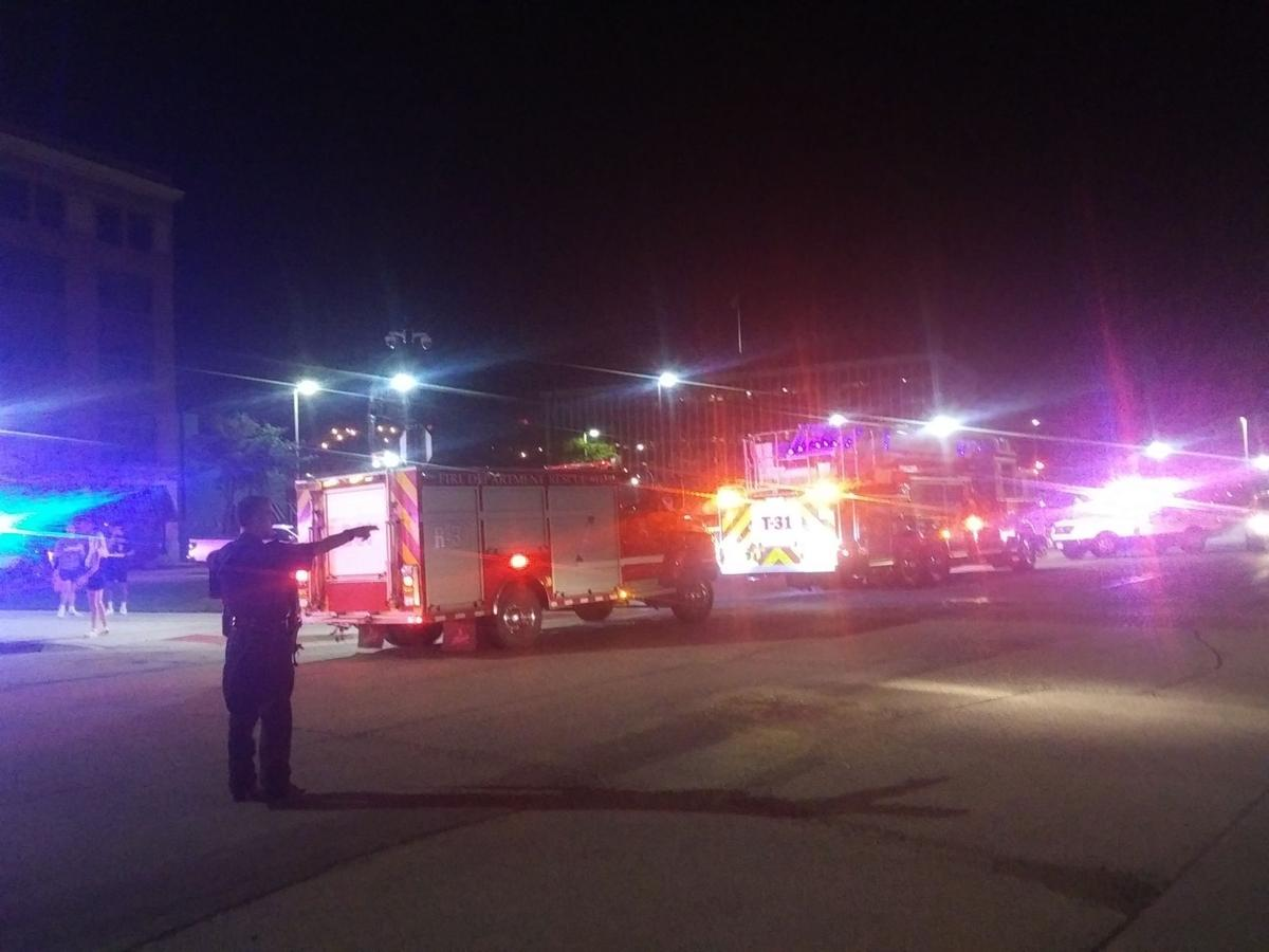 Authorities at the scene of a weekend shooting in downtown Rock Island