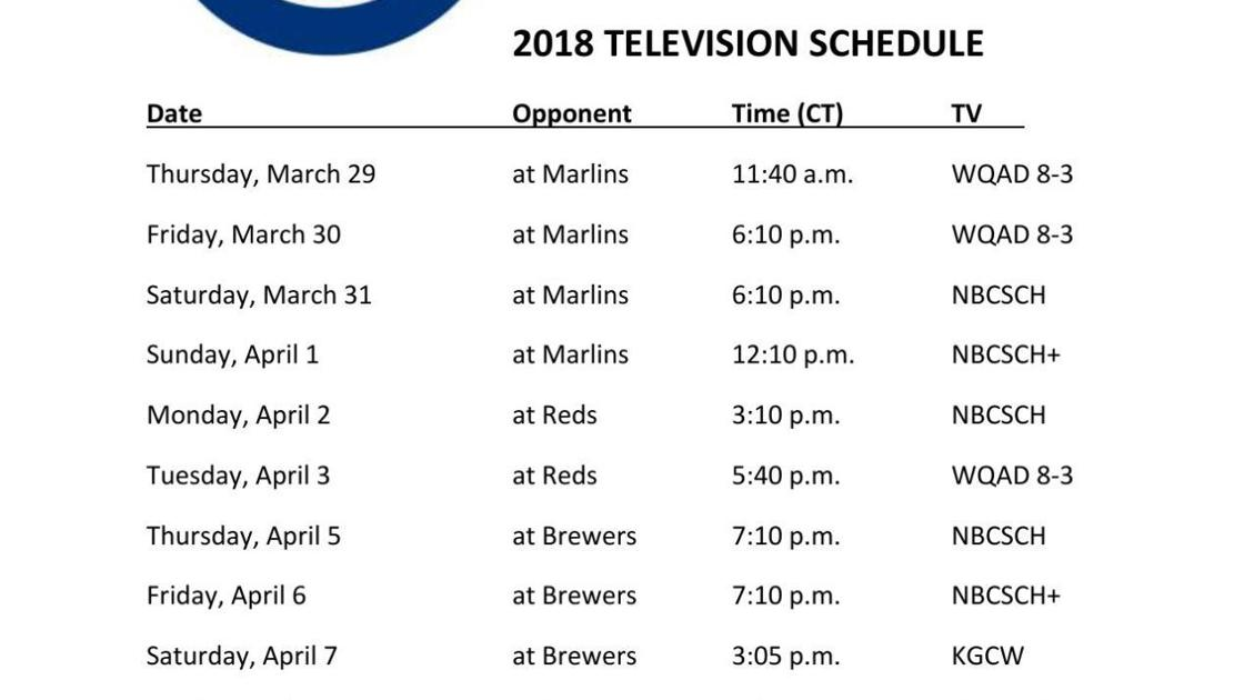 Printable Chicago Cubs 2018 Tv Schedule Qctimes Com
