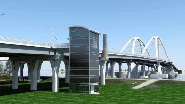 I-74 bridge View from Plaza