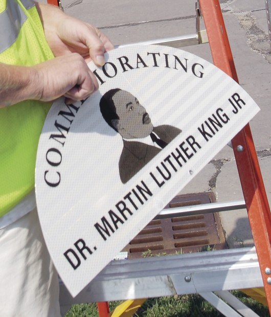 Martin Luther King Jr. street signs